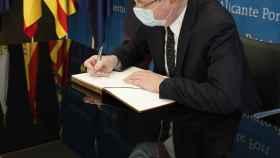 Ximo Puig, en su visita de ayer a Alicante.