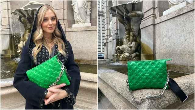 Chiara Ferragni con el Coussin de Louis Vuitton.