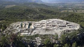 Vista aérea del yacimiento de la Almoloya.