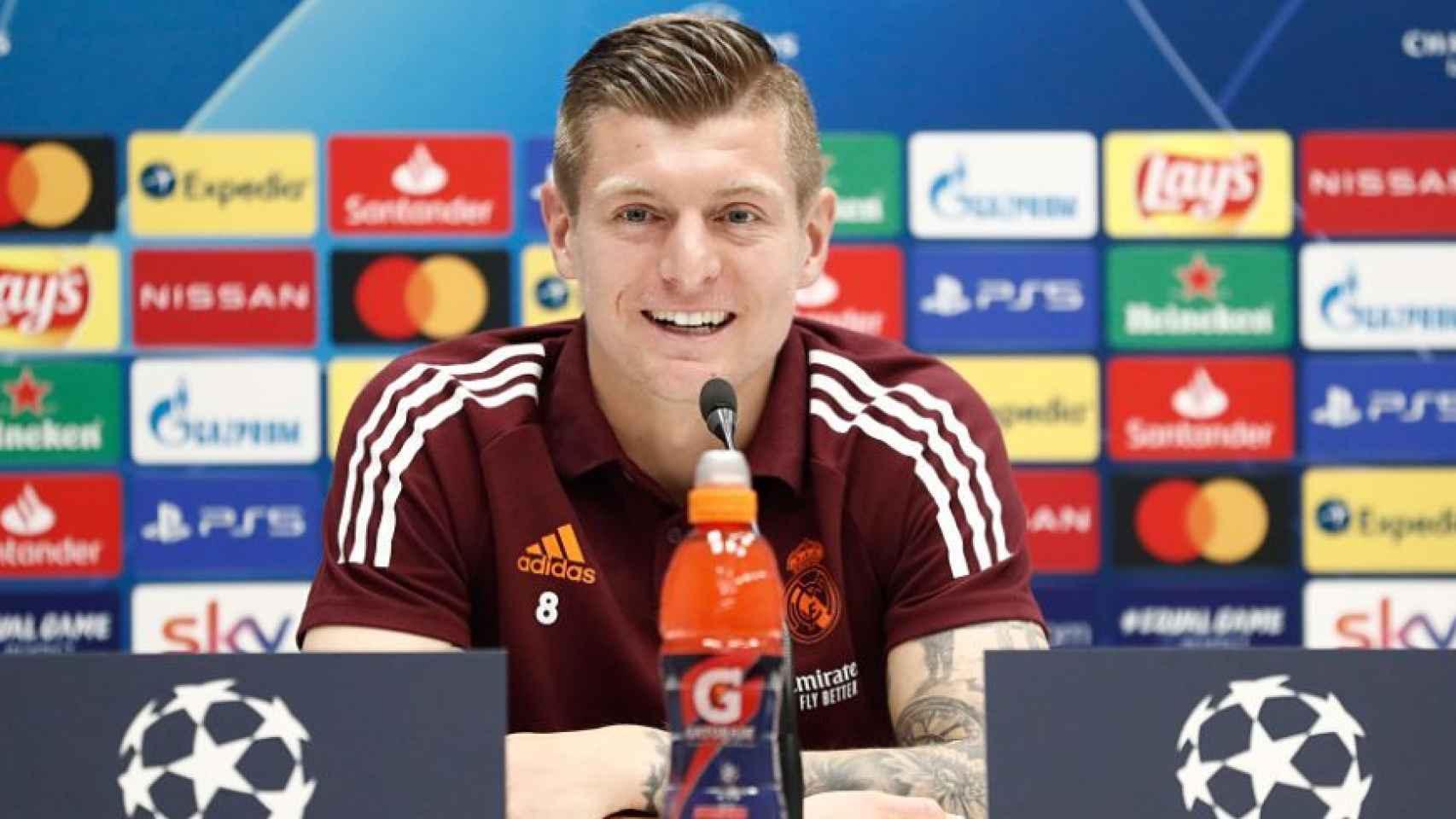 Toni Kroos, en rueda de prensa previa al encuentro frente al Atalanta