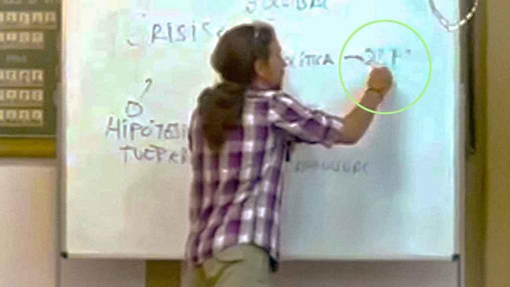 Pablo Iglesias, en 2012 en una charla universitaria.