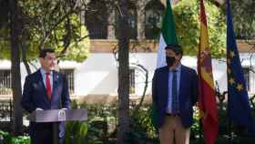 Juanma Moreno y Juan Marín tras el Consejo de Gobierno