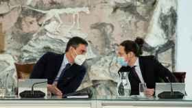 Pedro Sánchez y Pablo Iglesias, durante la reunión del Consejo de Minsitros.
