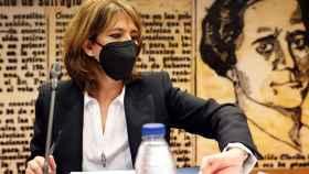 Dolores Delgado, este martes en la Comisión de Justicia del Senado./