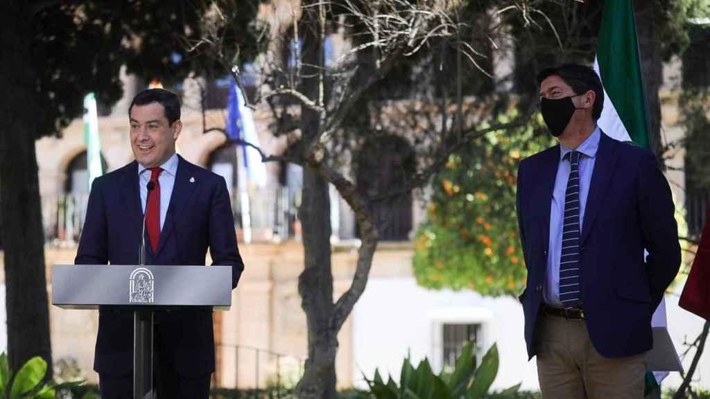 Moreno y Marín tras el Consejo de Gobierno