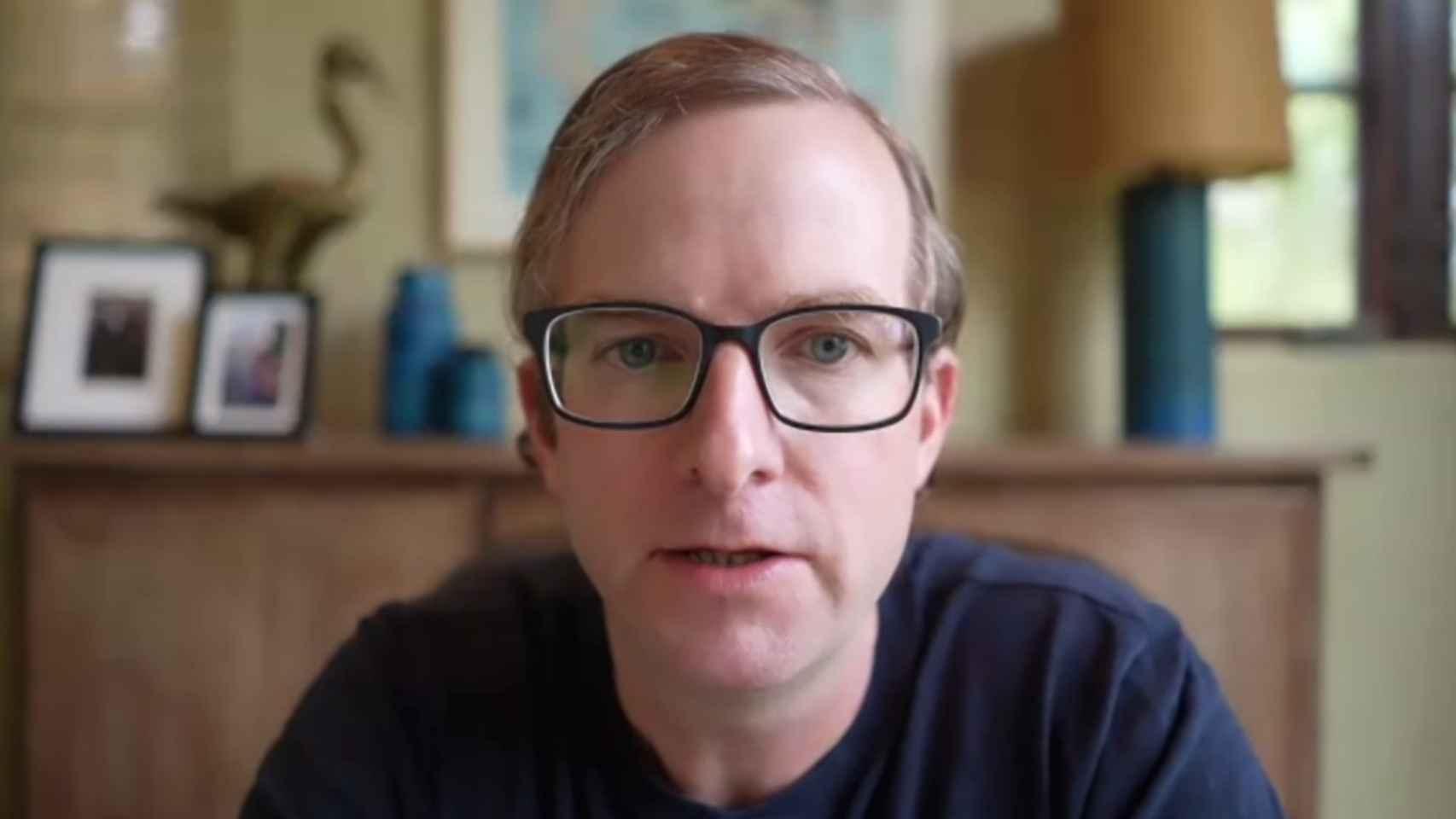 Mike Schroepfer, CTO de Facebook, durante la videoconferencia