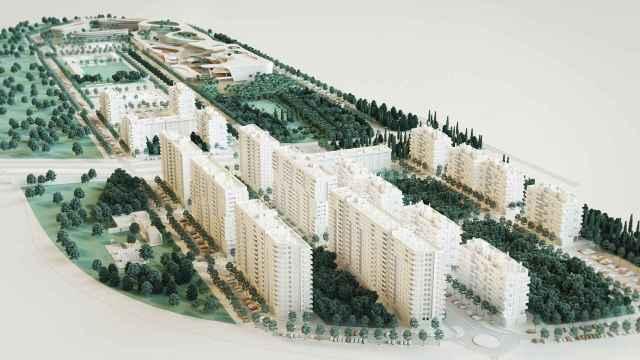 Infografía del proyecto de AQ Acentor en Turianova (Valencia).