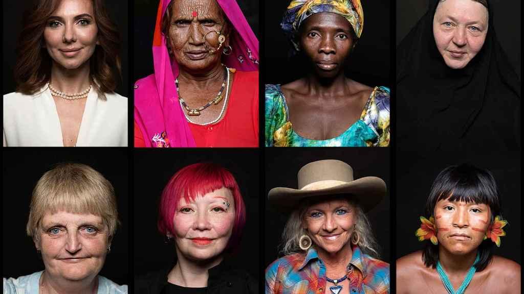 Un fotograma de la película Woman en el que han participado más de 2.000 mujeres.