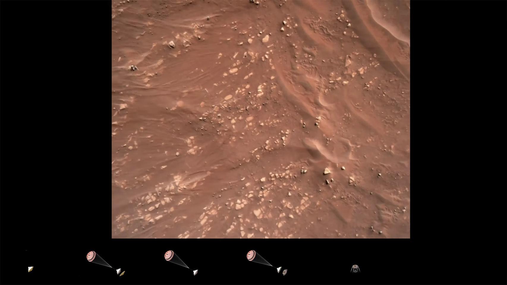 El aterrizaje en Marte del Perseverance en impresionantes vídeos en primera persona —
