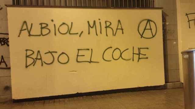 Pintada con amenazas para Xavier García Albiol.