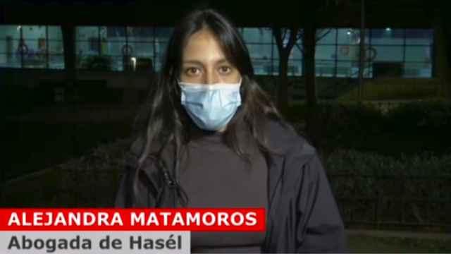 Alejandra Matamoros durante su intervención en 'Cuatro al día'.
