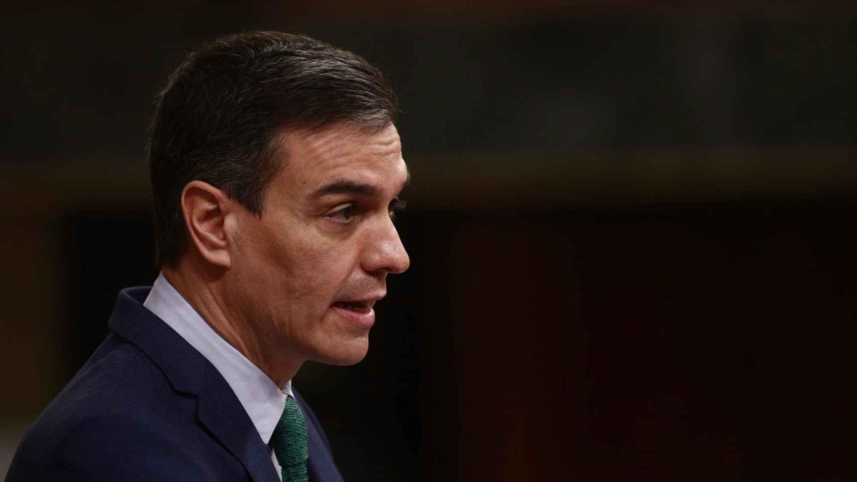El presidente del Gobierno, Pedro Sánchez, interviene durante una sesión de Control al Gobierno en el Congreso de los Diputados.