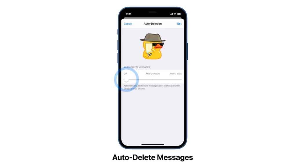 Mensajes que se eliminan en Telegram