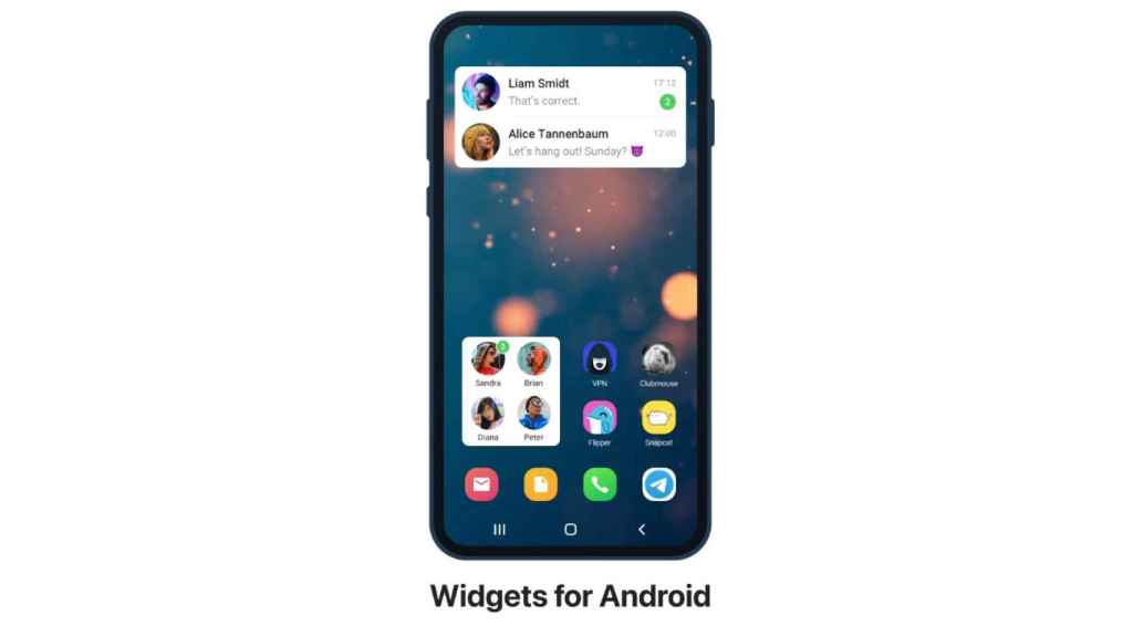 Widgets de Telegram