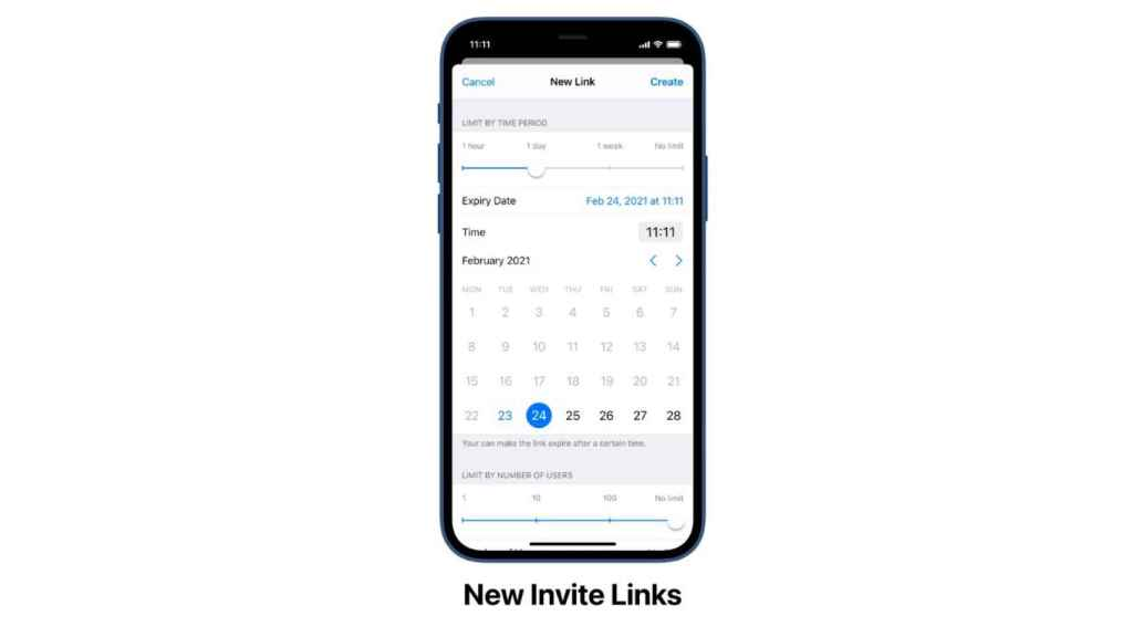 Management of invitation links.