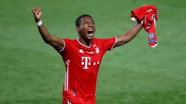 David Alaba celebrando el triunfo del Bayern Múnich en la última Champions League