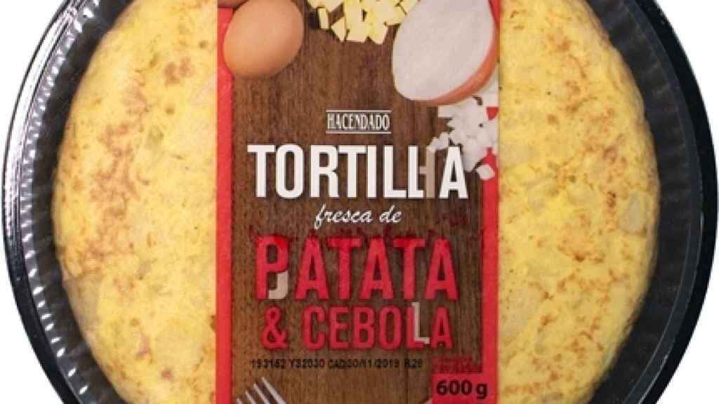 La tortilla con cebolla que comercializa Mercadona.