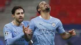 Gabriel Jesús celebra un gol con el City