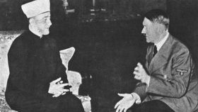 Amin al-Husayni y Adolf Hitler.