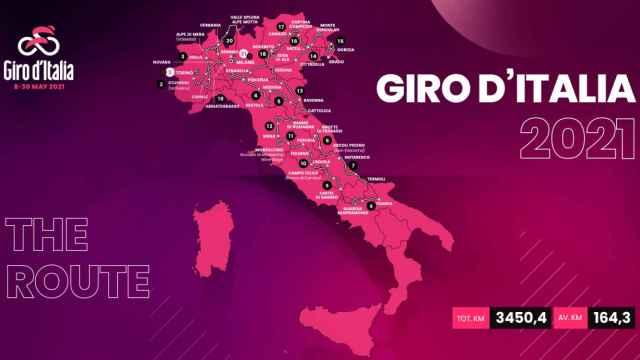 Así será el Giro de Italia 2021: las etapas, la importancia de la montaña y el 'sterratto'