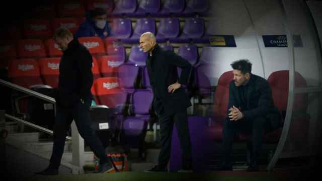Ronald Koeman, Zinedine Zidane y Diego Pablo Simeone, en un fotomontaje