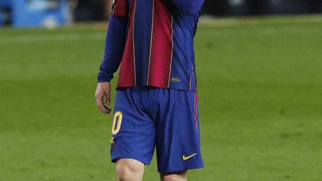 Leo Messi, en un momento del partido