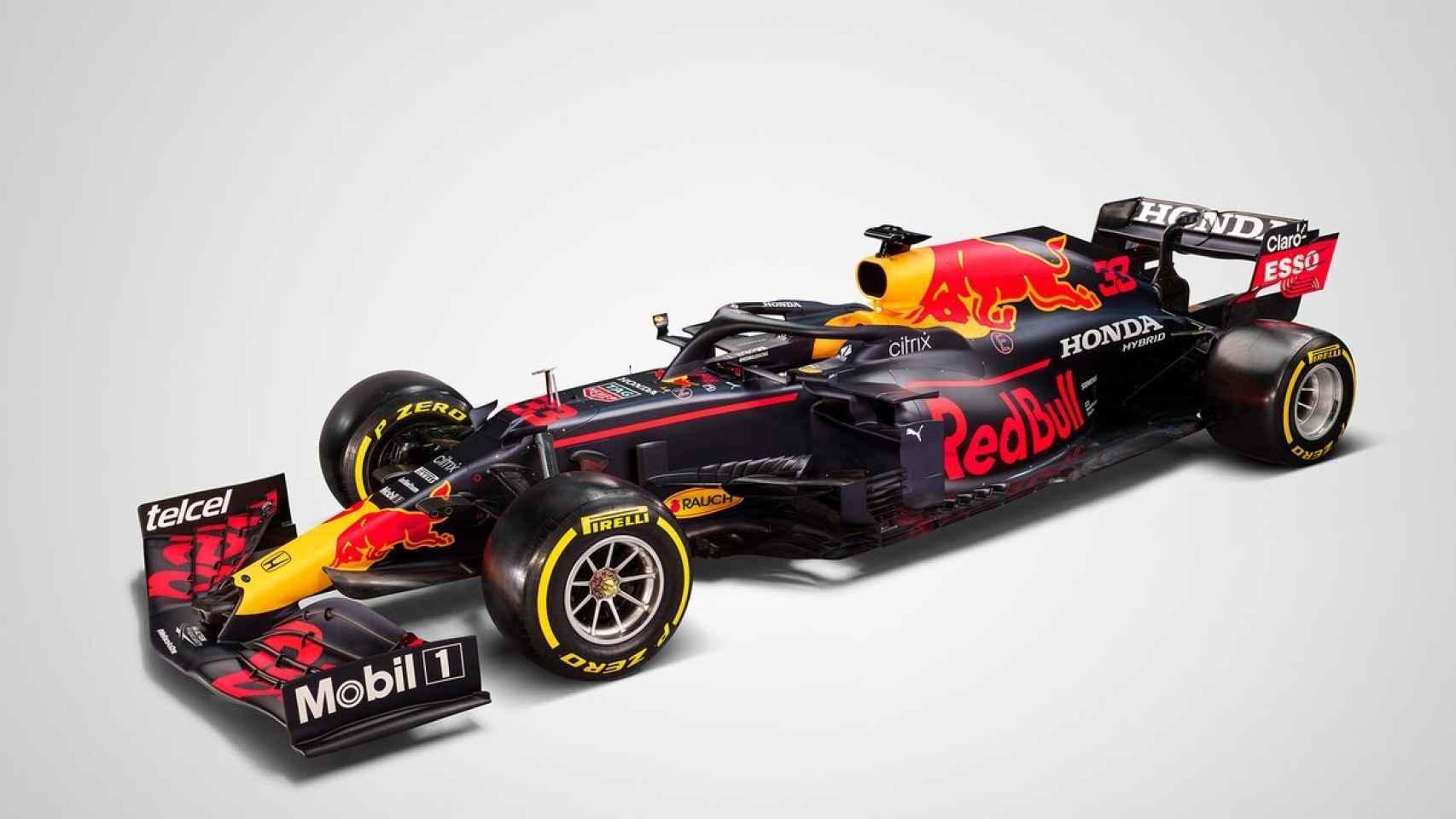 Así es el RB16B, el Red Bull de Max Verstappen y Sergio 'Checo' Pérez para la temporada 2021