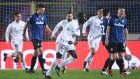 Ferland Mendy celebra su gol al Atalanta