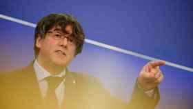 Carles Puigdemont en una comparecencia en el Parlamento Europeo.