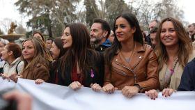 Dirigentes de Ciudadanos en la manifestación del 8-M de 2020 en Madrid.