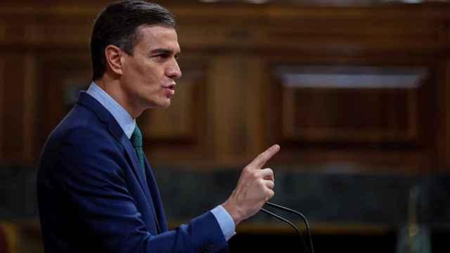 El presidente del Gobierno, Pedro Sánchez, este miércoles en el Congreso de los Diputados. Efe
