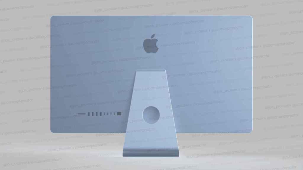 Así sería el nuevo iMac en color azul