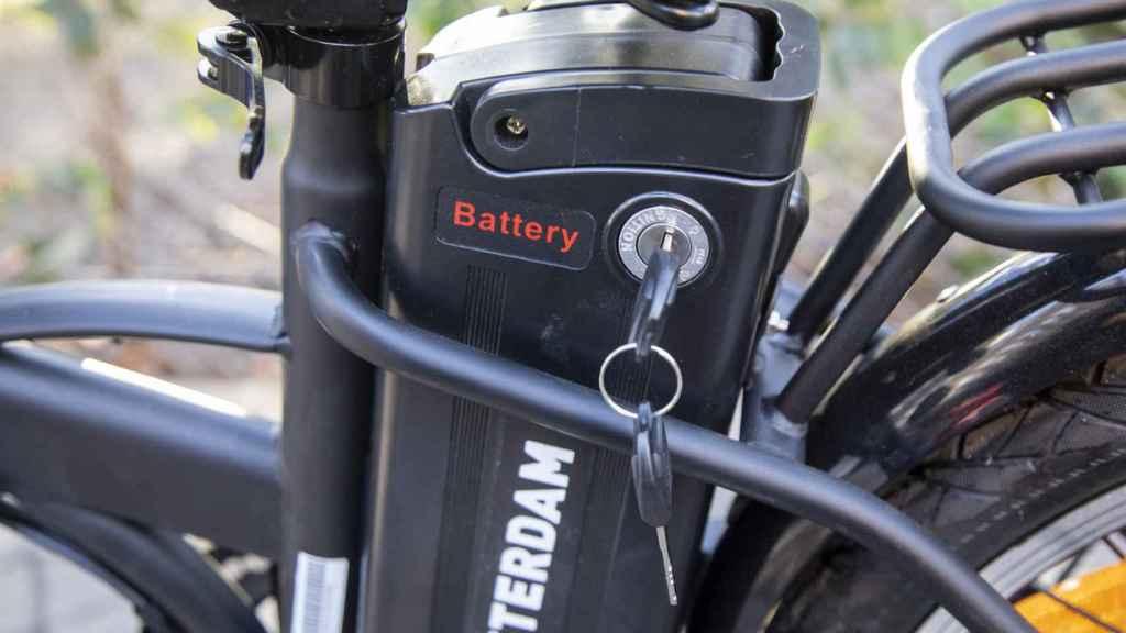 La batería de la bicicleta eléctrica de Youin