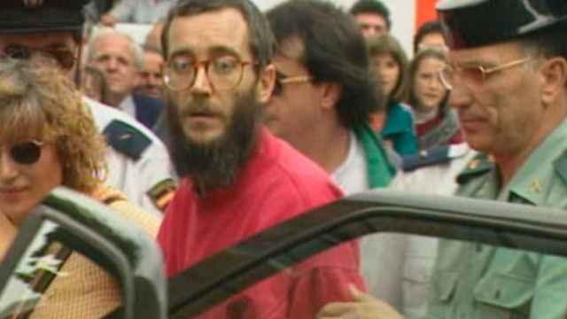 Ortega Lara el día de su liberación.
