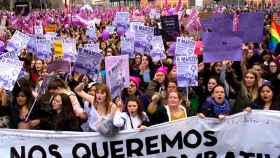 Manifestación del 8-M, Día del Mujer. Efe