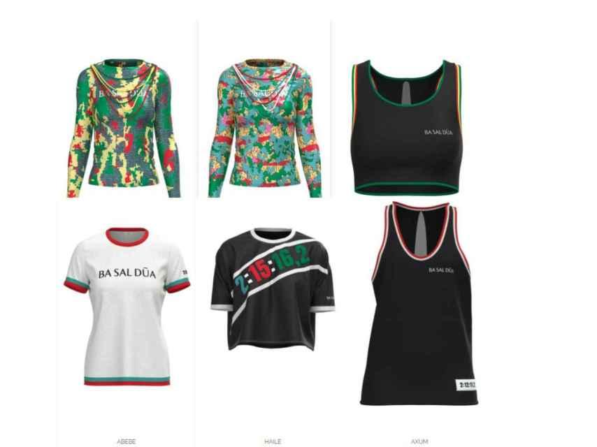 Algunas de las más de 14 prendas en 3D de que disponen en la colección.