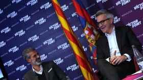Juli López y Víctor Font, durante un acto de la carrera electoral. Foto: Twitter (@sialfutur)
