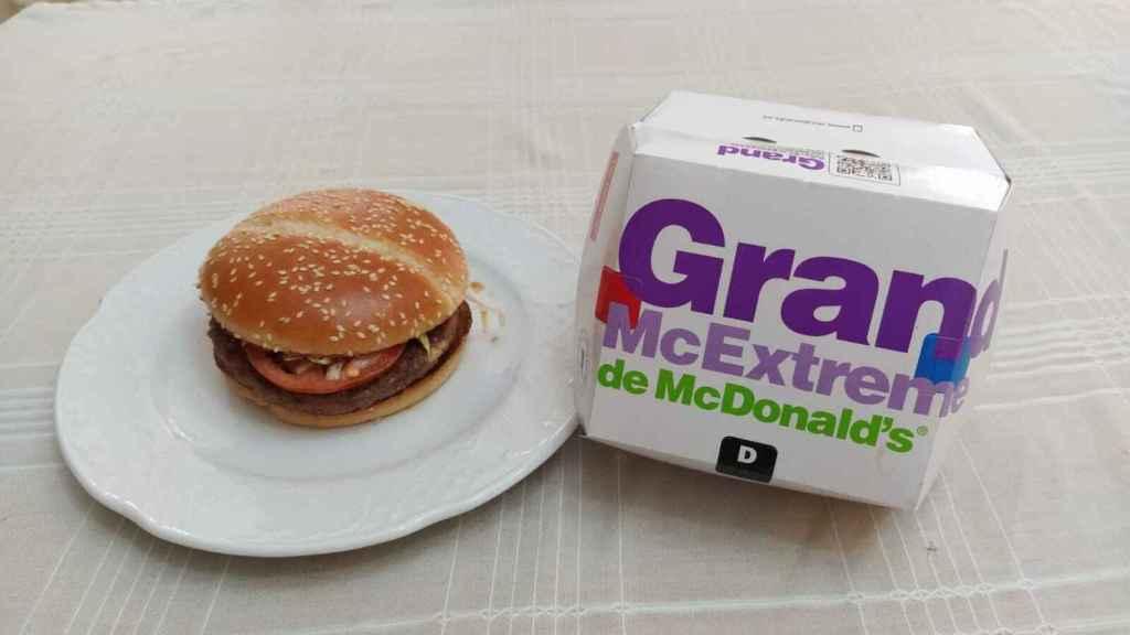 La hamburguesa Grand McExtreme Double 1955 de McDonald's probada.