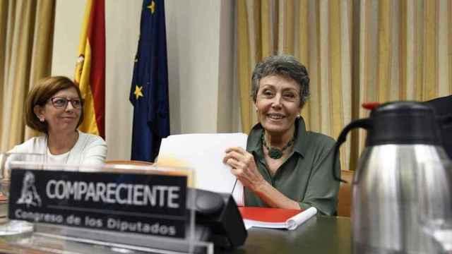 Rosa María Mateo, en una comparecencia en el Congreso.