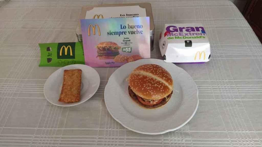 Los productos que McDonald's España ha empezado a vender en sus restaurantes.