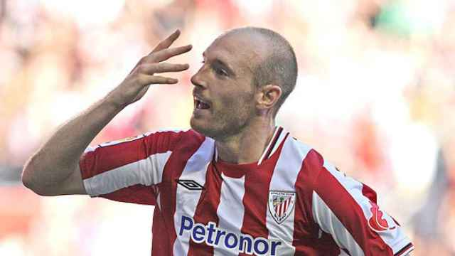 Gaizka Toquero con el Athletic Club