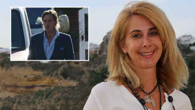 Carmen Janeiro junto a Luis Masaveu en montaje de JALEOS.