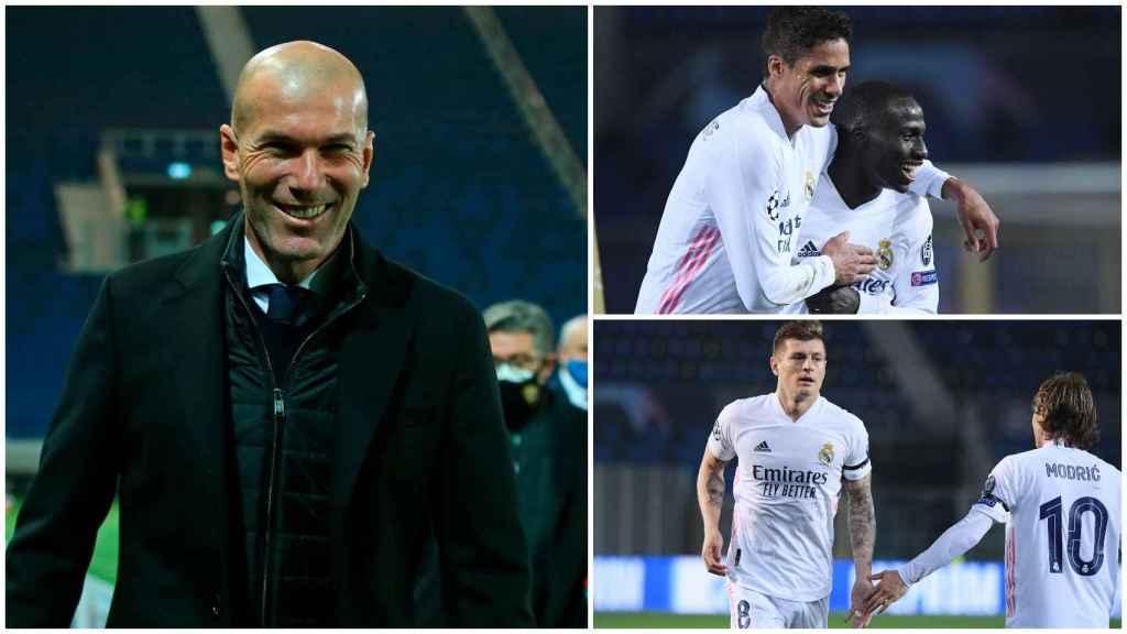 El Real Madrid y su victoria contra el Atalante, en un collage
