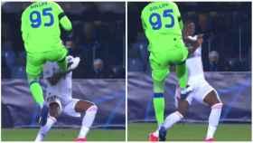La polémica acción del Atalanta - Real Madrid