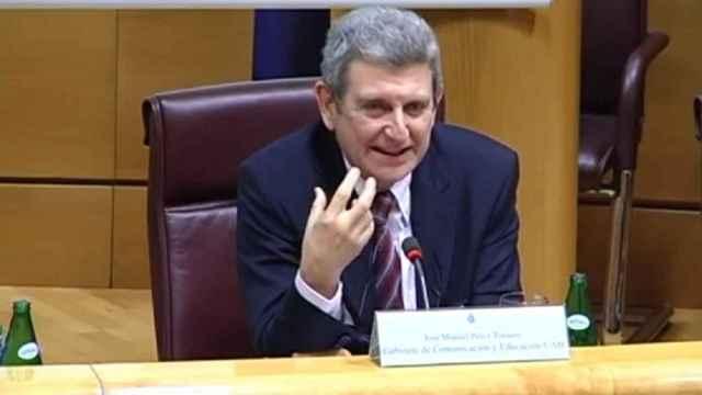 José Manuel Pérez Tornero, durante una reciente comparecencia en el Congreso.