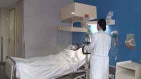 El Aerobox en uso en el Hospital Universitario La Paz de Madrid.
