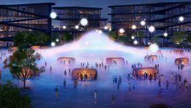 Recreación de Woven, la ciudad futurista de Toyota.