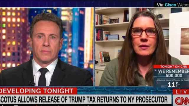 Mary Trump, sobrina de Donald Trump, entrevistada en CNN.