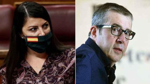Macarena Olona y Máximo Pradera en un fotomontaje.