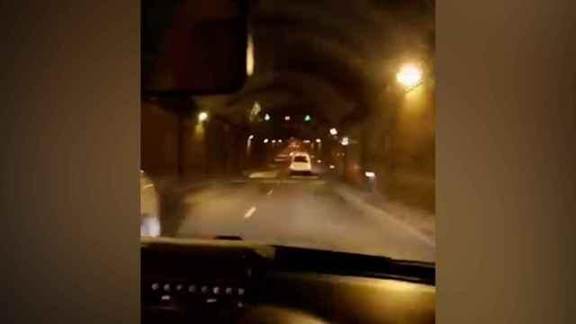 Detenido un taxista por conducción temeraria por los túneles de la M-30 de Madrid